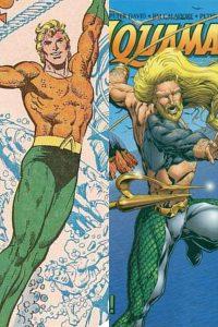 Aquaman e seus dois trajes