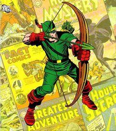Arqueiro Verde em seu traje inicial